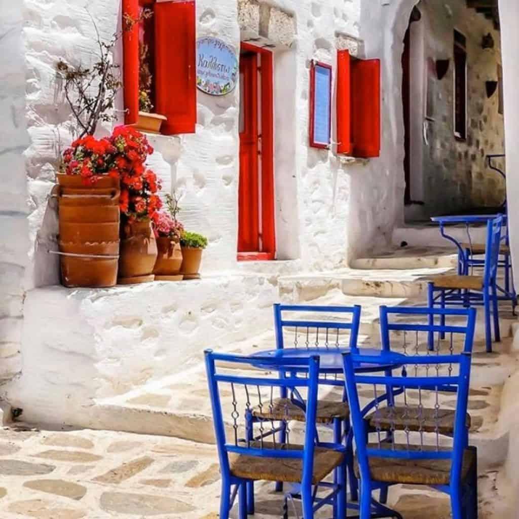 Chora Amorgos island