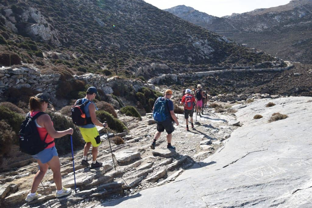 Hiking group in Amorgos island