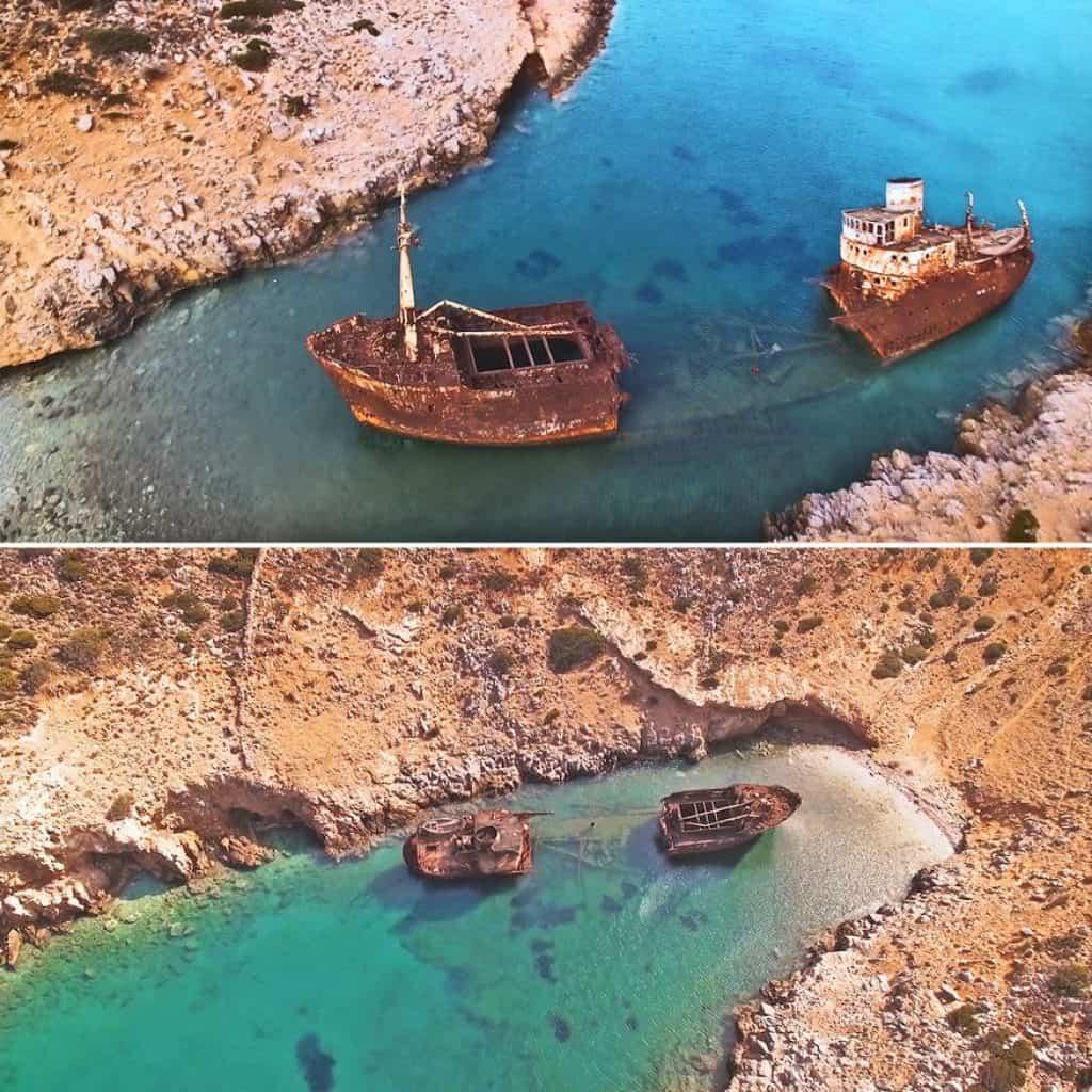 Olympia Shipwreck Amorgos Island